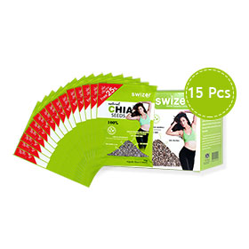 Swizer Natural Chia Seeds 100% (15gx15packs)