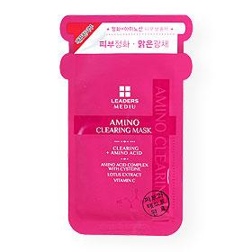 Leaders Mediu Amino Clearing Mask 1 Sheet(สินค้านี้ไม่ร่วมรายการซื้อ 2 ชิ้นฟรีค่าจัดส่ง)