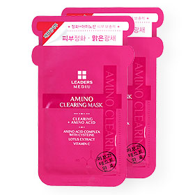 แพ็คคู่ Leaders Mediu Amino Clearing Mask (25ml x 2Sheets)