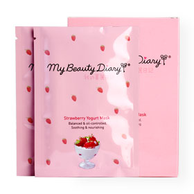 แพ็คคู่ My Beauty Diary Strawberry Yogurt Mask (2 Sheets x 2 Boxes)