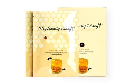 แพ็คคู่ My Beauty Diary Royal Jelly Mask (2 Sheets x 2 Boxes)
