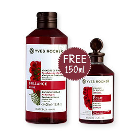 Yves Rocher Radiance Rinsing Vinegar All Hair Types 400ml (Free! Radiance Rinsing Vinegar 150ml)