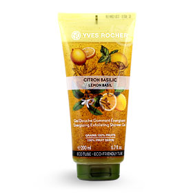 Yves Rocher Energizing Exfoliating Shower Gel 200ml #Lemon Basil