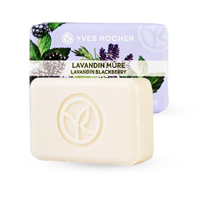 Yves Rocher Relaxing Soap 80g #Lavandin Blackberry