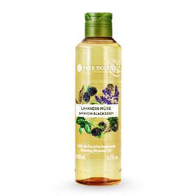 Yves Rocher Relaxing Shower Oil 200ml #Lavandin Blackberry