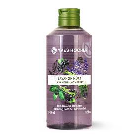 Yves Rocher Relaxing Bath & Shower Gel 400ml #Lavandin Blackberry