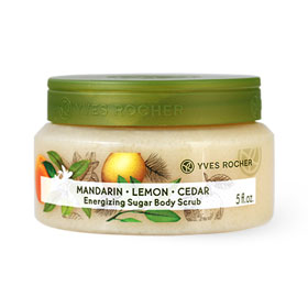 Yves Rocher Energizing Sugar Body Scrub Mandarin Lemon Cedar 150ml