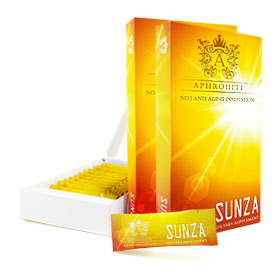 แพ็คคู่ Aphrodite Sunza Dietary (1.4g x 12 packs x Boxes)