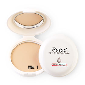 แพ็คคู่ Butae Super Oil-Control Powder Double Formula #1 Pale Natural (14g x 2)