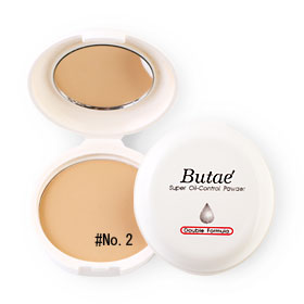 แพ็คคู่ Butae Super Oil-Control Powder Double Formula #No.2 Soft Beige (14g x 2)