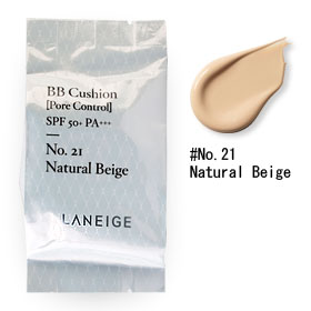 Laneige BB Cushion (Pore Control) SPF 50+ PA+++ (Refill) 15g #No.21 Natural Beige