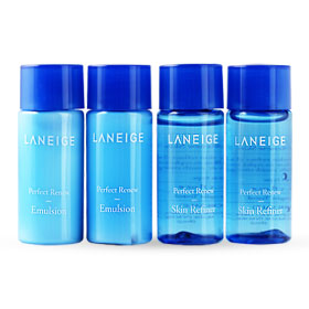 Laneige Perfect Renew Skin Refiner & Emulsion Set 4 Items (15mlx4pcs)