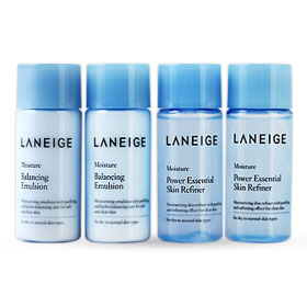 Laneige Moisture Power Essential Skin Refiner & Balancing Emulsion Set 4 Items (15mlx4pcs)