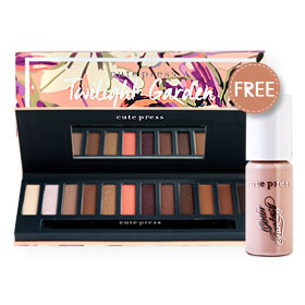 Cute Press Twilight Garden Eye & Brow Palette (Free! Color Fantasy Aqua Base Eyeshadow 2.5g #03 Natural Nude 1pcs)