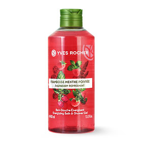 Yves Rocher Energizing Bath & Shower Gel 400ml #Raspberry Peppermint