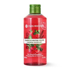 Yves Rocher Energizing Bath & Shower Gel 400ml #Raspberry Peppermint