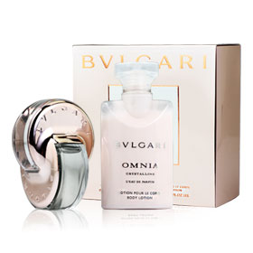 Bvlgari Omnia Crystalline Set (Eau De Parfum Spray 15ml, Lotion Pour Le Corps Body Lotion 40ml)