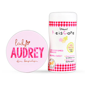 Lady Audrey Set 2 Items (Long-Lasting Oil Control 13g #Pink Colour + ReisCare 50g)