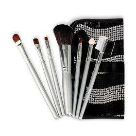Mei Linda Pop Star Brush Set 7 Items #Black