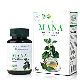 Bodyshape Mana Gymnema Set 2 Items (Inodorum 120 Capsules + Tea 30 Sachets)