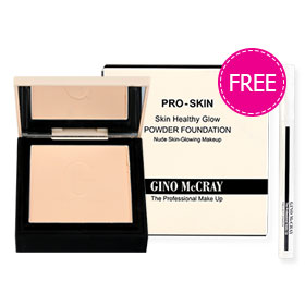 Beauty Buffet GINO McCRAY The Professional Makeup Skin Healthy Glow Powder Foundation 9g #020 Warm Natural (Free! Fallout Eraser