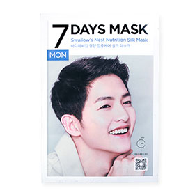Forencos 7Days Mask 1 Sheet #Swallow's Nest Nutrition Silk Mask-Mon