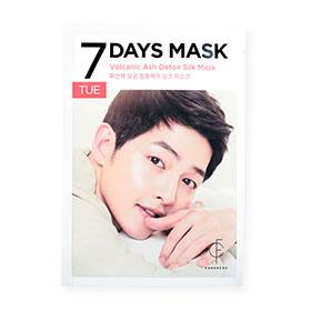 Forencos 7Days Mask 1 Sheet #Volcanic Ash Detox Silk Mask-Tue