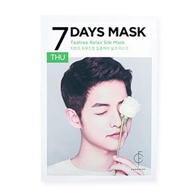 Forencos 7Days Mask 1 Sheet #Teatree Relax Silk Mask-Thu