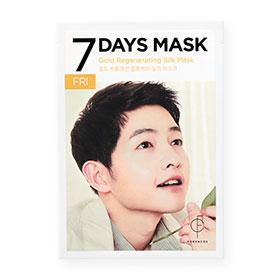 Forencos 7Days Mask 1 Sheet #Gold Regenerating Silk Mask-Fri(สินค้านี้ไม่ร่วมรายการซื้อ 2 ชิ้นฟรีค่าจัดส่ง)
