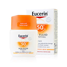 Eucerin Sun Fluid Mattifying Face SPF50/PA++++ 50ml (With Box)