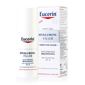 Eucerin Hyaluron-Filler Anti-Wrinkle Brightening Day Mattifying SPF30 50ml