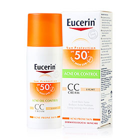 Eucerin Sun CC Cream Acne Oil Control SPF50+PA++++  50ml