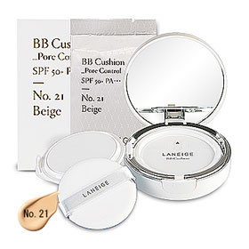 Laneige BB Cushion Pore Control SPF 50+ PA+++ (15gx2Items) #No. 21 Beige