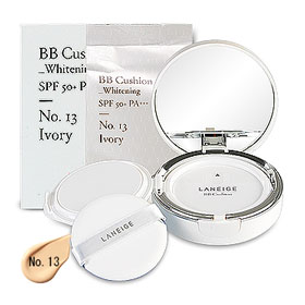Laneige BB Cushion Whitening SPF 50+ PA+++ (15gx2Items) #No. 13 Ivory