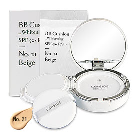 Laneige BB Cushion Whitening SPF 50+ PA+++ (15gx2Items) #No. 21 Beige