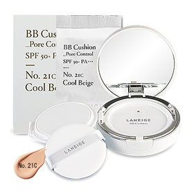 Laneige BB Cushion Pore Control SPF 50+ PA+++ (15gx2Items) #No. 21C Cool Beige