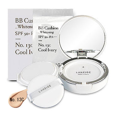 Laneige BB Cushion Whitening SPF 50+ PA+++ (15gx2Items) #No.13C Cool Ivory