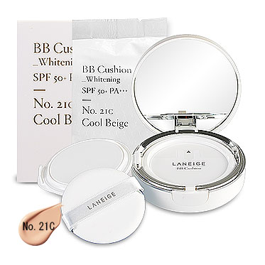 Laneige BB Cushion Whitening SPF 50+ PA+++ (15gx2Items) #No. 21C Cool Beige