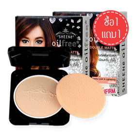 ซื้อ 1 แถม 1 Sheene Oil Free Double Matte Powder Cake SPF25 PA++ Refill #C1 (9gx2)