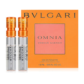 แพ็คคู่ Bvlgari Omnia Indian Garnet EDT (1.5mlx2pcs)
