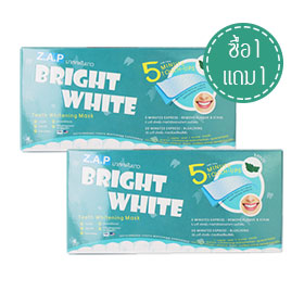 ซื้อ 1 แถม 1 Z.A.P Bright White Teeth Whitening Mask #Mint (7pcsx2)