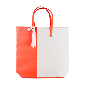 Lancome Fluorescent Orange Leather Bag