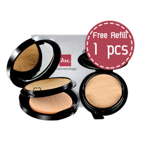 ซื้อ 1 แถม 1 BSC Smoothing Matte Powder #C2 (Free! Refill) (10.5x2pcs)