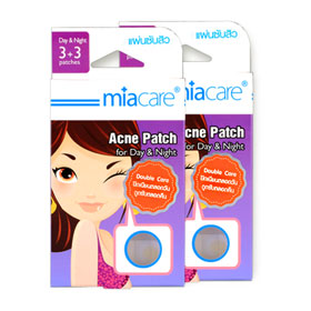 แพ็คคู่ Miacare Acne Patch For Day&Night (6pcs x 2)