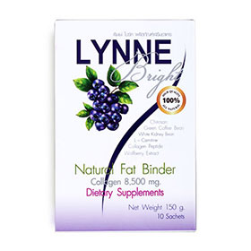 LYNNE Bright Natural Fat Binder Collagen 8,500 mg. 10 Sachets