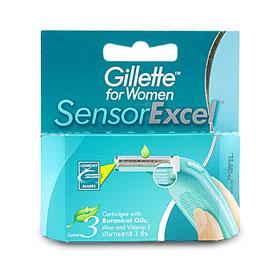 Gillete For Women Sensor Excel Razor (3pcs)
