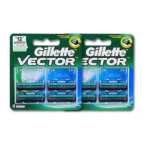 แพ็คคู่ Gillete Vector Razor (4pcsx2)