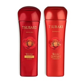 ซื้อ 1 แถม 1 Tsubaki Shining (Shampoo 220ml #61000 + Conditioner 220ml #61012)