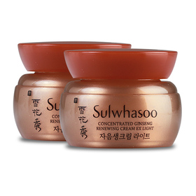แพ็คคู่ Sulwhasoo Concentrated Ginseng Renewing Cream EX Light (5mlx2pcs)