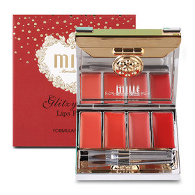Mille Glitzy Glow Palette #04 Red Rouge Lips